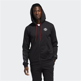 ADIDAS HARDEN FLEECE FULL ZIP SWEATSHIRT