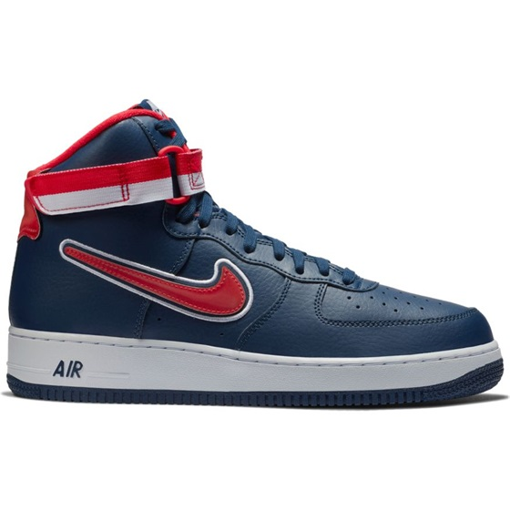 AIR FORCE 1 HIGH '07 LV8 SPORT MIDNIGHT NAVY/UNIVERSITY RED-WHITE