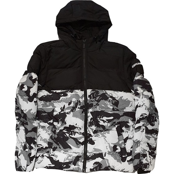 CAYLER & SONS WL STATEMENT SNOW CAMO PUFFER JACKET