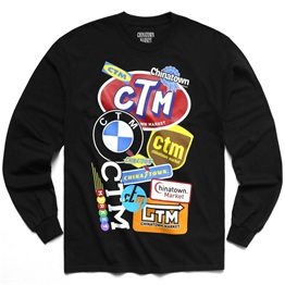 CHINATOWN MARKET LOGO COLLAGE LONG SLEEVE