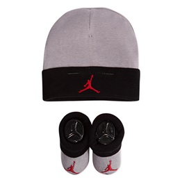 JORDAN BASIC HAT/BOOTIE SET 2PC