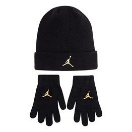 JORDAN KIDS METAL JUMPMAN BEANIE & GLOVE SET