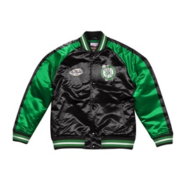 MITCHELL & NESS BOSTON CELTICS COLOR BLOCKED SATIN JACKET