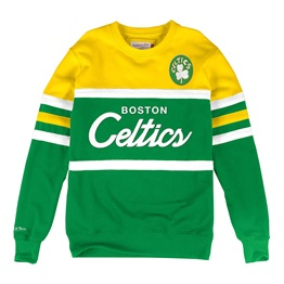 MITCHELL & NESS BOSTON CELTICS NBA HEAD COACH CREW SWEATSHIRT