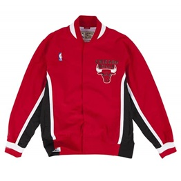 MITCHELL & NESS CHICAGO BULLS AUTHENTIC WARM UP JACKET