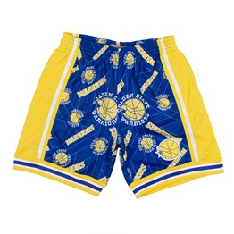 MITCHELL & NESS GOLDEN STATE WARRIORS TEAR UP PACK SWINGMAN SHORT