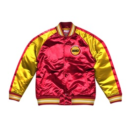 MITCHELL & NESS HOUSTON ROCKETS COLOR BLOCKED SATIN JACKET