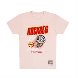 MITCHELL & NESS HOUSTON ROCKETS PASTEL RINGS TEE