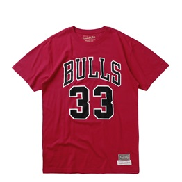 MITCHELL & NESS LAST DANCE CHICAGO BULLS NUMBER 33 TEE
