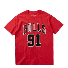 MITCHELL & NESS LAST DANCE CHICAGO BULLS NUMBER 91 TEE