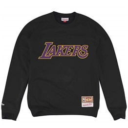 MITCHELL & NESS LOS ANGELES LAKERS EMBROIDERED LOGO CREW