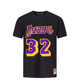 MITCHELL & NESS LOS ANGELES LAKERS MAGIC JOHNSON NAME & NUMBER TRADITIONAL TEE