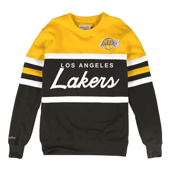 MITCHELL & NESS LOS ANGELES LAKERS NBA HEAD COACH CREW SWEATSHIRT