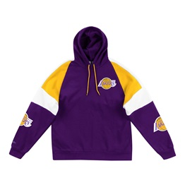 MITCHELL & NESS LOS ANGELES LAKERS NBA INSTANT REPLAY HOODIE