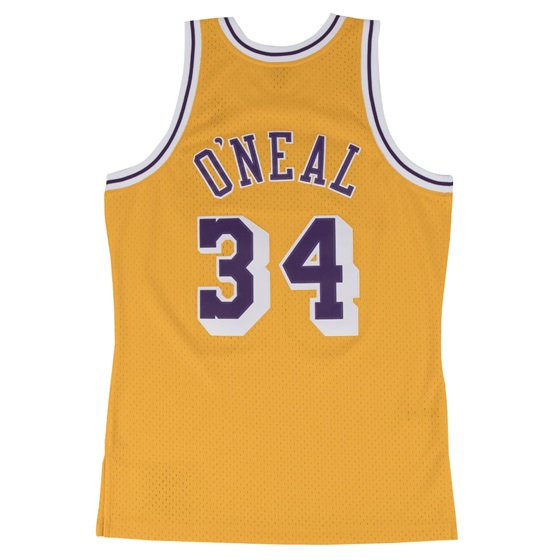 MITCHELL & NESS LOS ANGELES LAKERS SHAQUILLE ONEAL #34 SWINGMAN 2.0 JERSEY