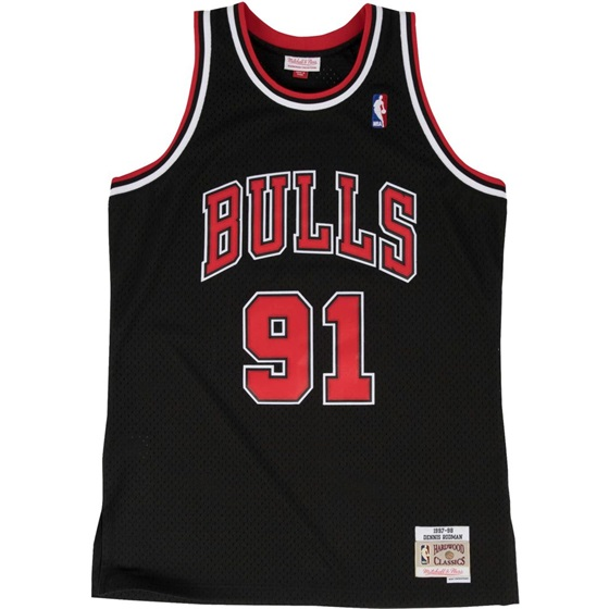 MITCHELL & NESS NBA CHICAGO BULLS DENNIS RODMAN #91 SWINGMAN JERSEY