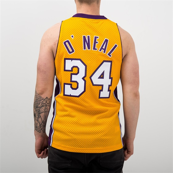 MITCHELL & NESS NBA LOS ANGELES LAKERS SHAQUILLE ONEAL #34 SWINGMAN JERSEY