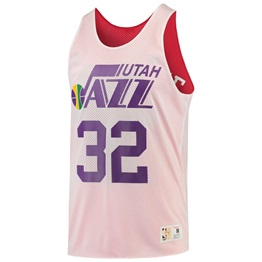 MITCHELL & NESS NBA REVERSIBLE MESH TANK TOP KARL MELONE #32/13