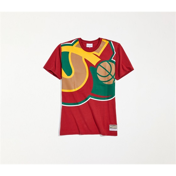 MITCHELL & NESS SEATTLE SUPER SONICS BIG FACE SS TEE