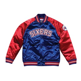 MITCHELL & NESS SEASON SATIN JACKET PHILADELPHIA 76ERS