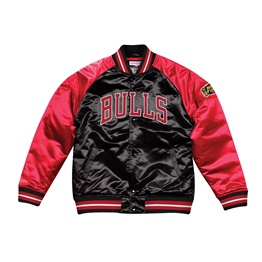 MITCHELL & NESS SEASON SATIN JACKET CHICAGO BULLS