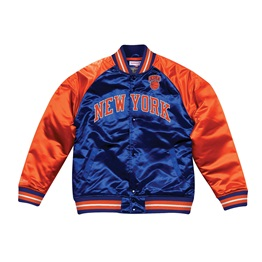 MITCHELL & NESS SEASON SATIN JACKET NEW YORK KNICKS