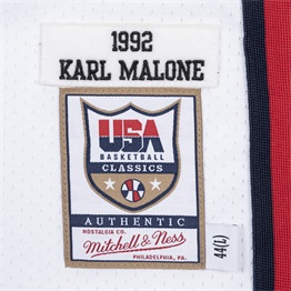MITCHELL & NESS USA BASKETBALL 1992 KARL MALONE AUTHENTIC HOME JERSEY