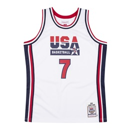 MITCHELL & NESS USA BASKETBALL 1992 LARRY BIRD AUTHENTIC HOME JERSEY