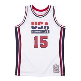 MITCHELL & NESS USA BASKETBALL 1992 MAGIC JOHNSON AUTHENTIC HOME JERSEY