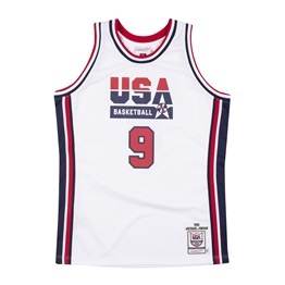 MITCHELL & NESS USA BASKETBALL 1992 MICHAEL JORDAN AUTHENTIC HOME JERSEY