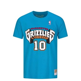 MITCHELL & NESS VANCOUVER GRIZZLIES MIKE BIBBY NAME & NUMBER TRADITIONAL TEE