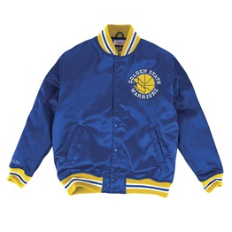 Mitchell & Ness NBA Golden State Warriors Satin Bomber Jacket