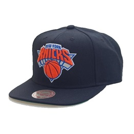 Mitchell & Ness NEW YORK KNICKS SOLID TEAM COLOUR SNAPBACK BLACK