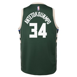 NBA X NIKE KIDS MILWAUKEE BUCKS ANTETOKOUNMPO GIANNIS ICON SWINGMAN JERSEY