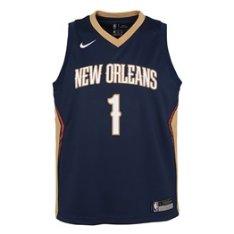 NBA X NIKE KIDS NEW ORLEANS PELICANS WILLIAMSON ICON SWINGMAN JERSEY