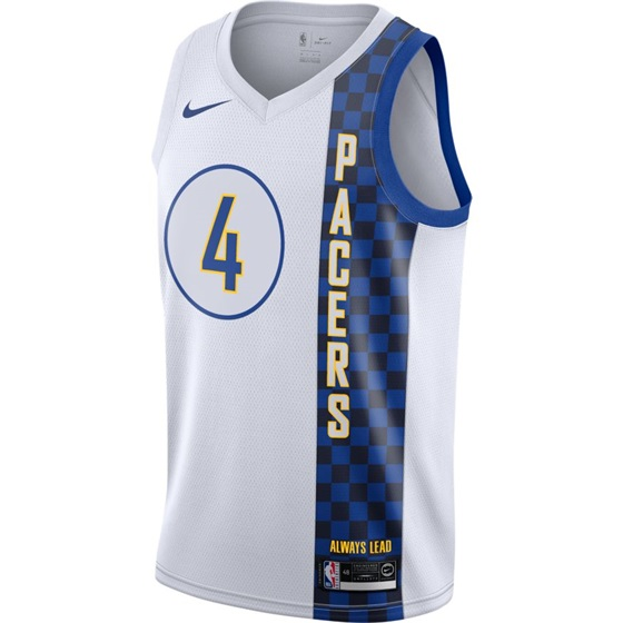 NBA X NIKE  INDIANA PACERS VICTOR OLAPIDO SWINGMAN CITY EDITION JERSEY 19