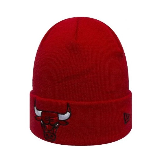NEW ERA CHICAGO BULLS TEAM ESSENTIAL CUFF KNIT HAT