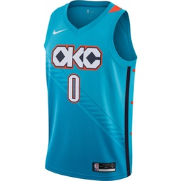 NIKE X NBA OKLAHOMA CITY THUNDER WESTBROOK SWINGMAN JERSEY CITY EDITION 3ab07eba2af