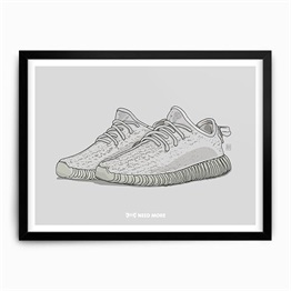 Need More Adidas Yeezy Boost 350 Moonrock Art Print