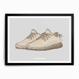 Need More Adidas Yeezy Boost 350 Oxford Tan Art Print