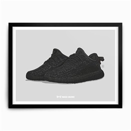 Need More Adidas Yeezy Boost 350 Pirate Black Art Print