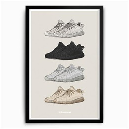 Need More Adidas Yeezy Boost 350 Selection Art Print