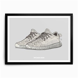 Need More Adidas Yeezy Boost 350 Turtle Dove Art Print